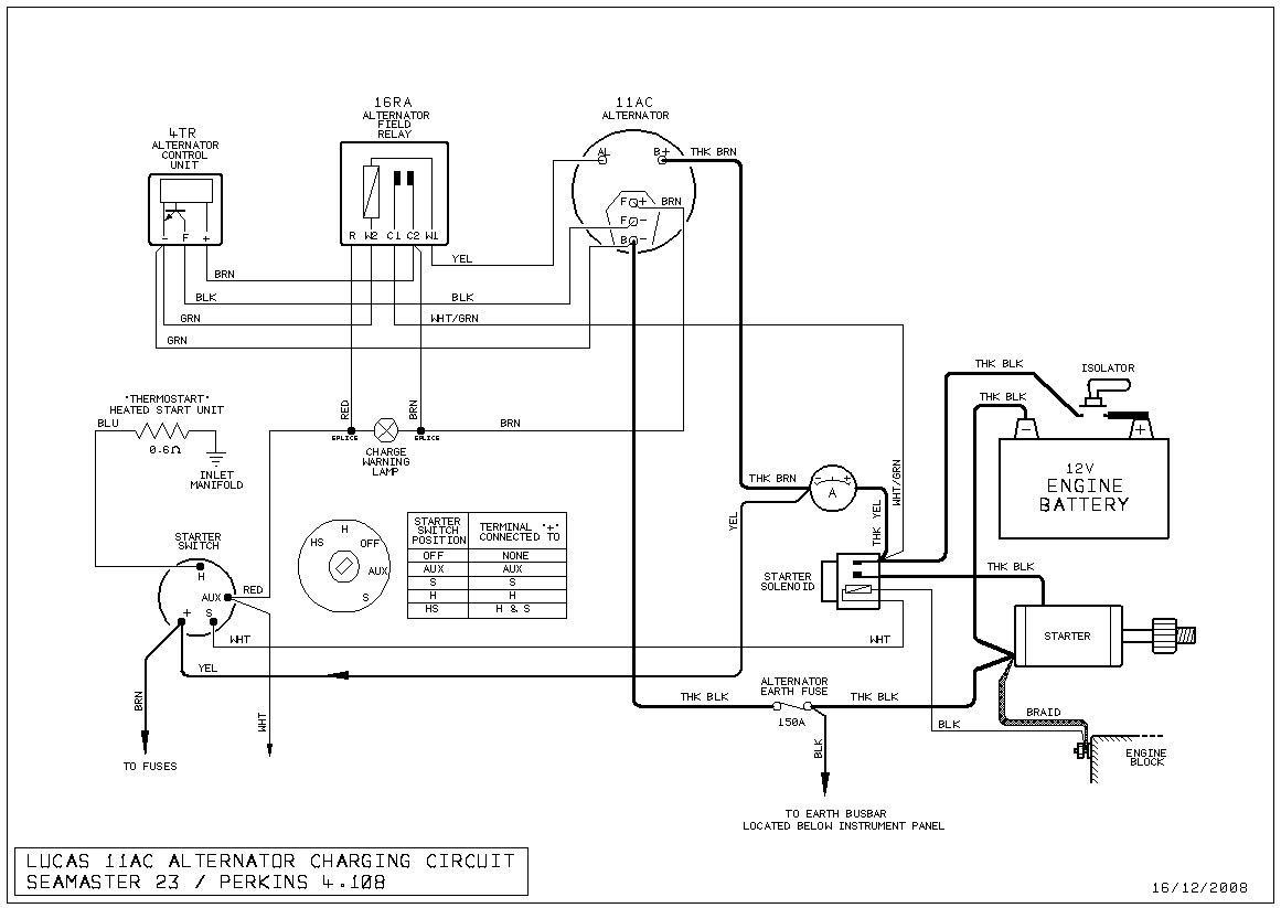 Lucas Alternator Wiring Diagram : Lucas alternator a gallery